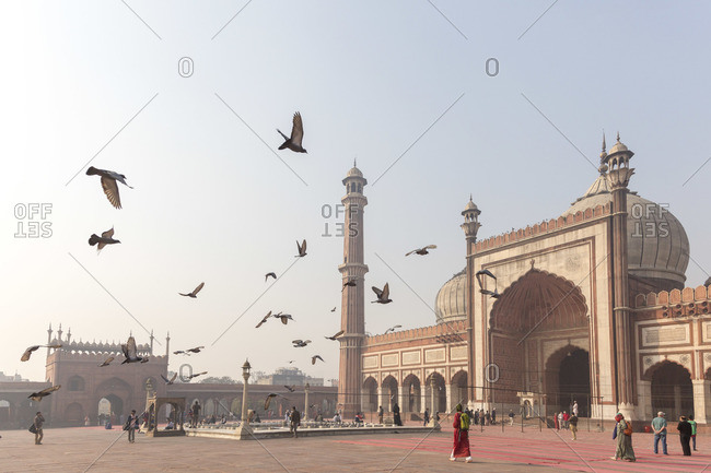 February 5, 2016: The Jama Masjid, Friday Mosque, world's largest mosque, Delhi, India
