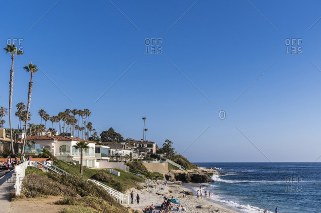 July 2, 2017: Dream beach, Windansea Beach, La Jolla, San Diego, California, USA