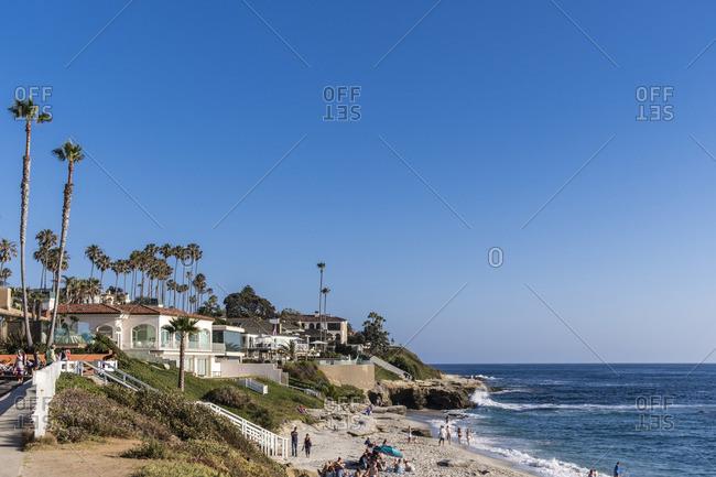 July 2, 2017: Dream beach, Windansea Beach, La Jolla, San Diego, California, USA