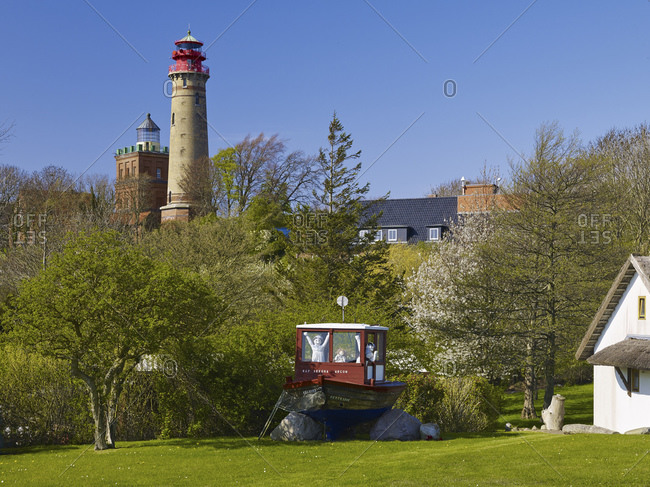 May 1, 2015: Old and new lighthouse at Cape Arkona, Rugen, Mecklenburg-Vorpommern, Germany