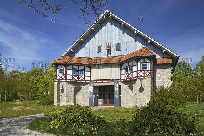 May 6, 2016: Theater museum in the former riding hall, Meiningen, Thuringia, Germany
