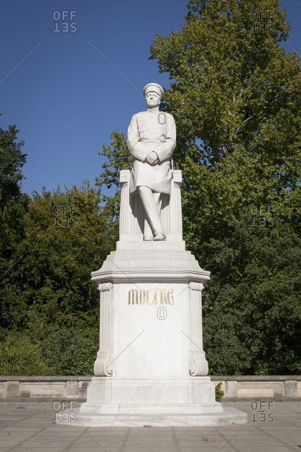 October 1, 2015: Helmuth Karl Bernhard von Moltke Monument, Grosser Stern, Tiergarten, Berlin