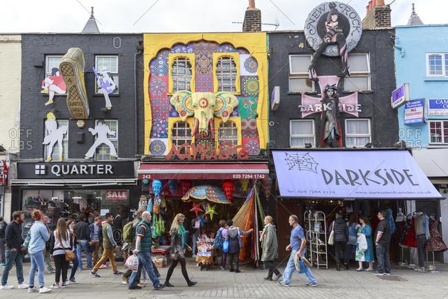 September 12, 2015: Camden Market, Camden High Street, Camden Town, London, United Kingdom