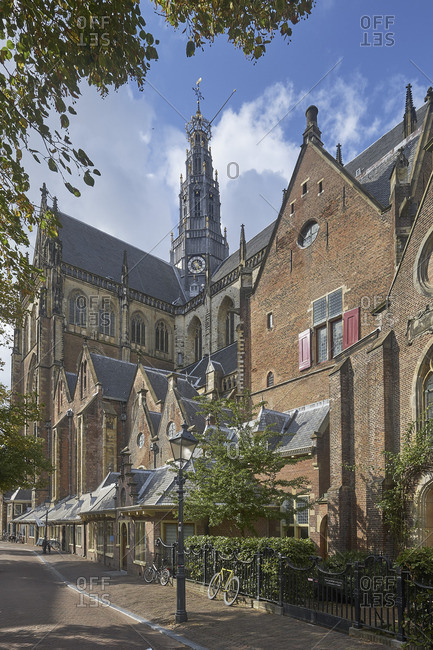 September 12, 2017: The Great or St. Bavo Church, Haarlem, North Holland, Netherlands