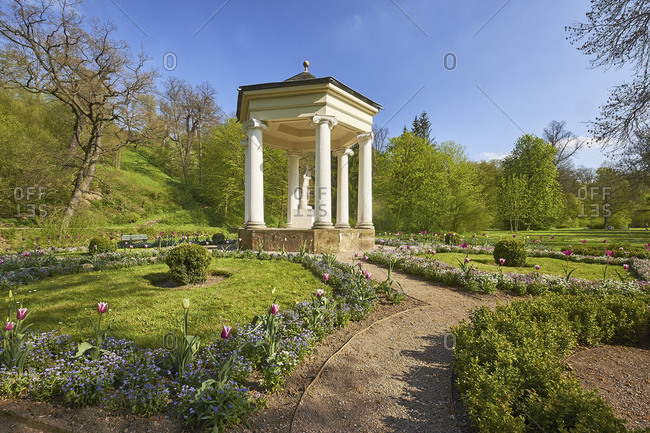 Temple of the Muses of the Calliope in Tiefurter Park, Weimar, Thuringia, Germany