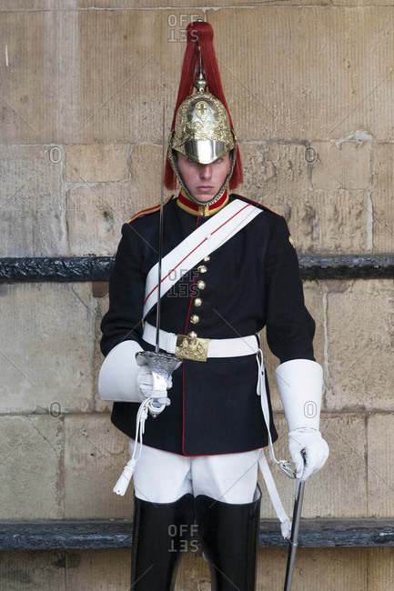 August 8, 2015: Guardians at the Household Cavalry Museum, City of Westminster, London, UK