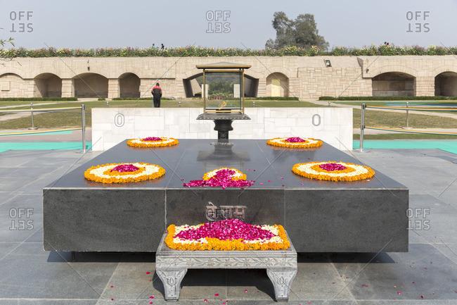 February 5, 2016: Raj Ghat Memorial, place of cremation of Mahatma Gandhi, Delhi, India