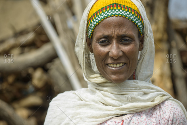 June 10, 2014: Ethiopian woman from the highland villages near Metemma in northern Ethiopia