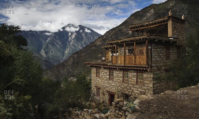 September 12, 2011: The village of Danpa in the fertile highlands of Kham, Tibet