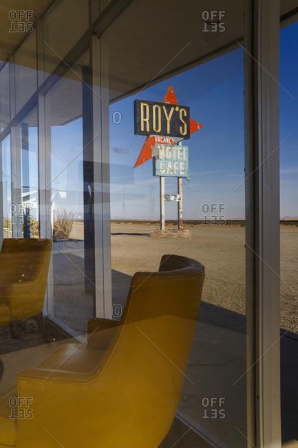June 7, 2016: Roy's Motel and Caf�, Amboy, Mojave Desert, San Bernadino County, California, USA