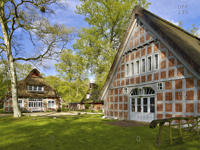May 4, 2015: Haus im Schluh, residential house Martha Vogeler in Worpswede, Lower Saxony, Germany