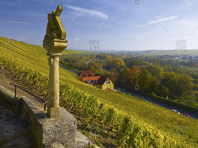 November 1, 2014: Way of the Cross in the vineyards near Escherndorf, Mainfranken, Bavaria, Germany