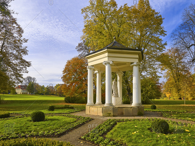 November 1, 2016: Temple of the Muses of the Calliope in Tiefurter Park, Thuringia, Germany