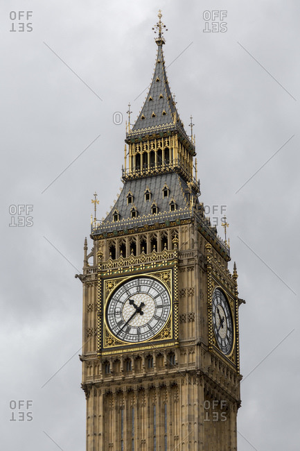 The clock tower called the Elizabeth Tower with the bell Big Ben, London, Great Britain