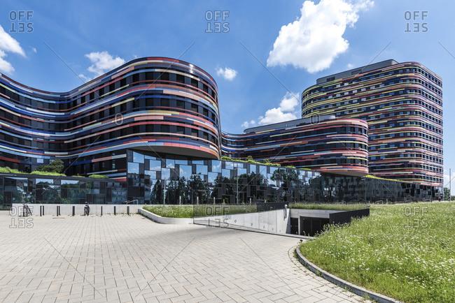 June 5, 2016: Facade of the Department of Urban Development and Housing, BSW, Wilhelmsburg, Hamburg, Germany
