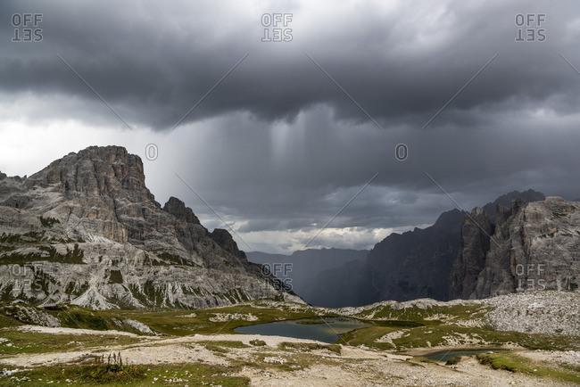 Paternkofel circuit, Lago dei Piani, Crodon di San Candido, Drei Zinnen National Park, Dolomites, South Tyrol, Italy