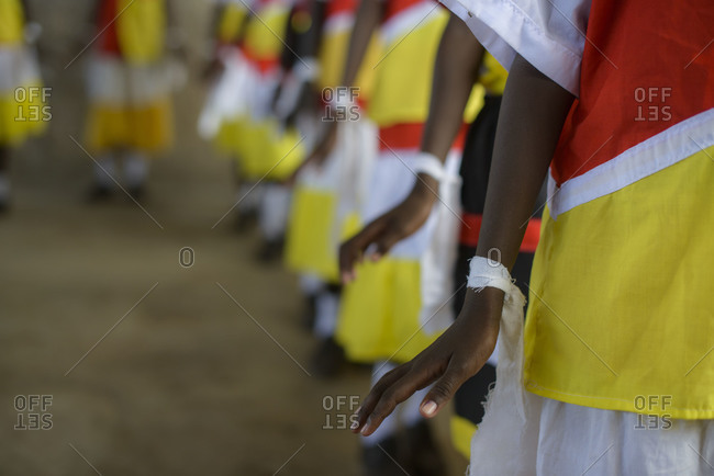 An event organized by the Catholic Church for children of Catholic schools in the Turkana tribal region of Kenya