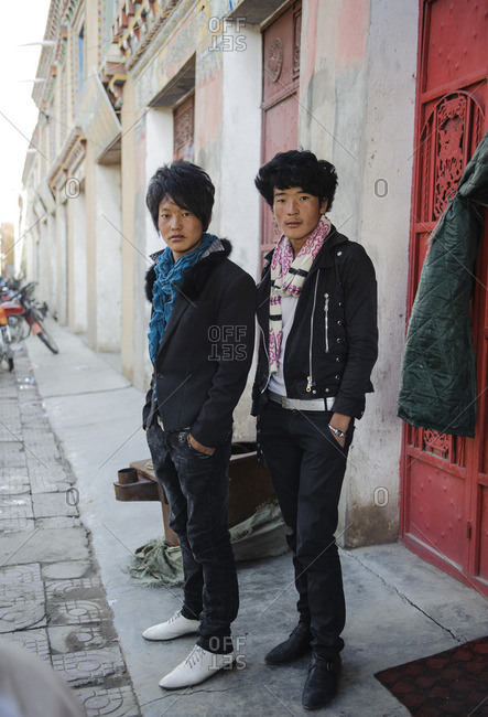 September 26, 2011: Modern day Tibetan fashionistas, those who have left traditional life and have been absorbed by Chinese fashion. Kham, Tibet
