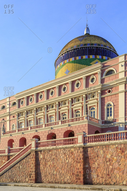 January 24, 2017: The Teatro Amazonas is an opera house in Manaus, Brazil. The construction was financed by the rubber boom and inaugurated on December 31, 1896.