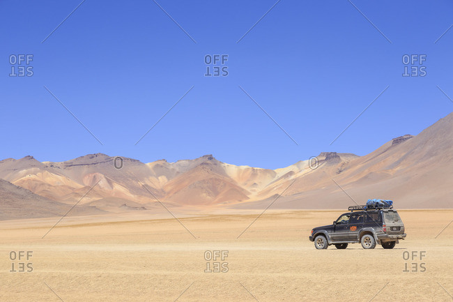 December 17, 2016: The Salvador Dali Desert, a roughly 110 km n large stone desert in the middle of the National Park Reserva Nacional de Fauna Andina Eduardo Avaroa, Potosi Department, Bolivia, South America
