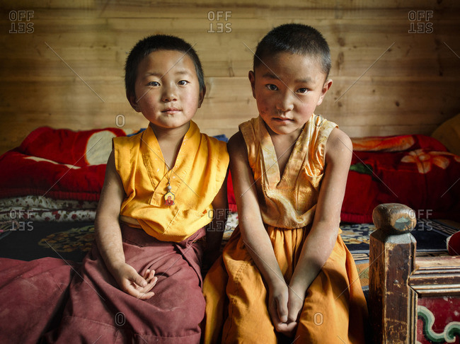 September 23, 2011: It is common for Tibetan families to send at least one of their children to live in monasteries to be trained as lamas and follow the religious path. Remote Tibetan plateau