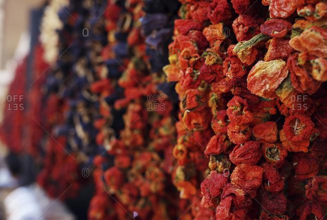 Red dried spices, Gaziantep, Southeastern Anatolia, Turkey