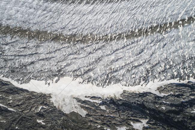 Close-up of glacier, Bettmeralp, Valais, Switzerland