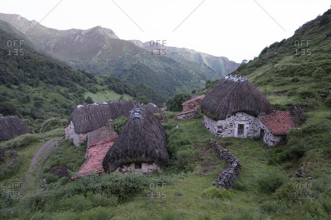 Teitos at Somiedo National Park, Asturias, Spain