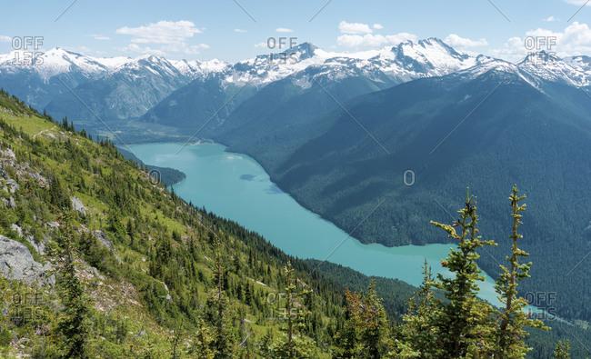 Cheakamus Lake, High Note Trail, Whistler Blackcomb Ski Resort, British Columbia, Canada