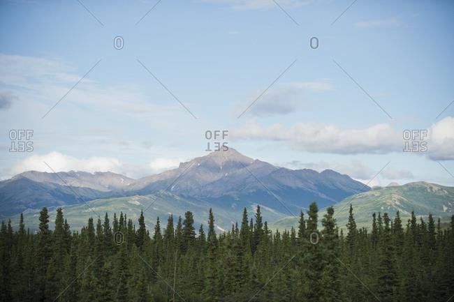Sky over mountain peak, Alaska, USA