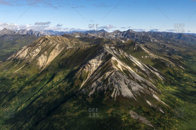 Peaks of Alaska Range, Alaska, USA