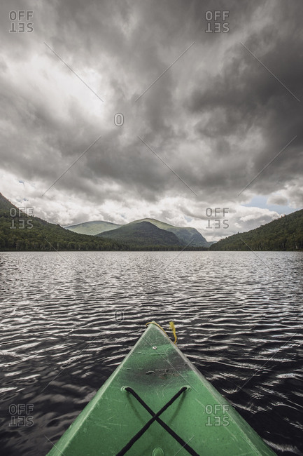 Kayak in South Branch Pond, Maine, USA