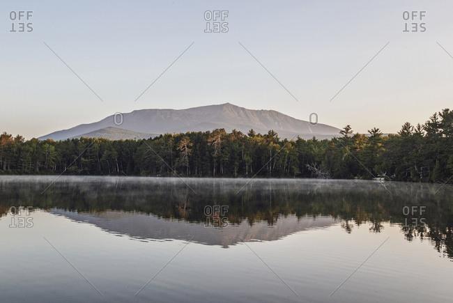 Togue Pond at dawn, Maine, USA