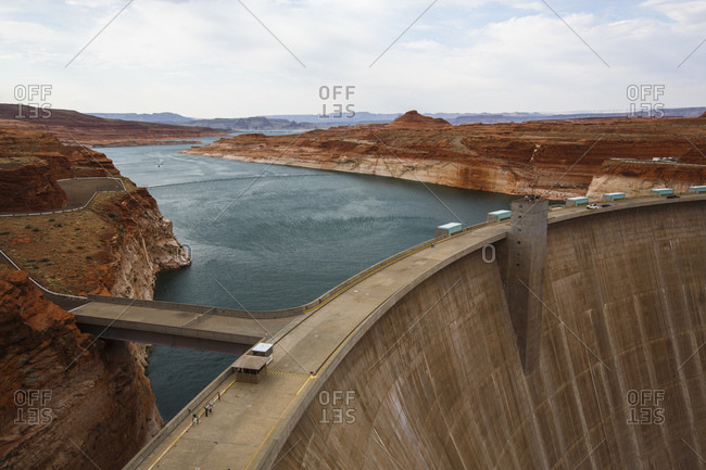 Glen Canyon Dam on Lake Powell near Page, Arizona, USA