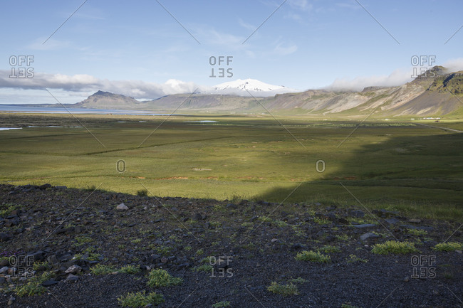 Scenery with grass and hills, Snaefellsnes, Iceland