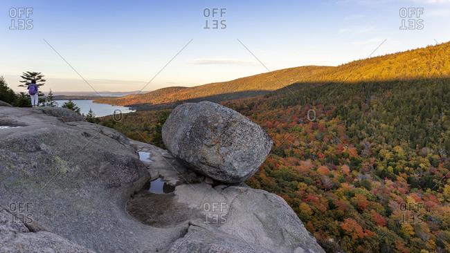 Bubble Rock, Acadia National Park, Maine, USA