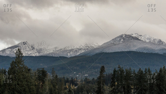 Olympic Mountains in Olympic National Park, Port Angeles, Washington, USA