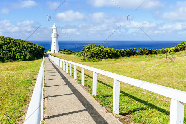 Footpath leading towards Cape Otway Lighthouse- Victoria- Australia