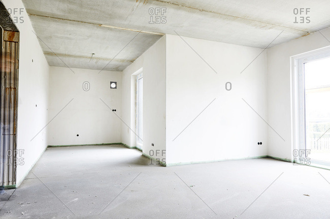 Empty room on construction site