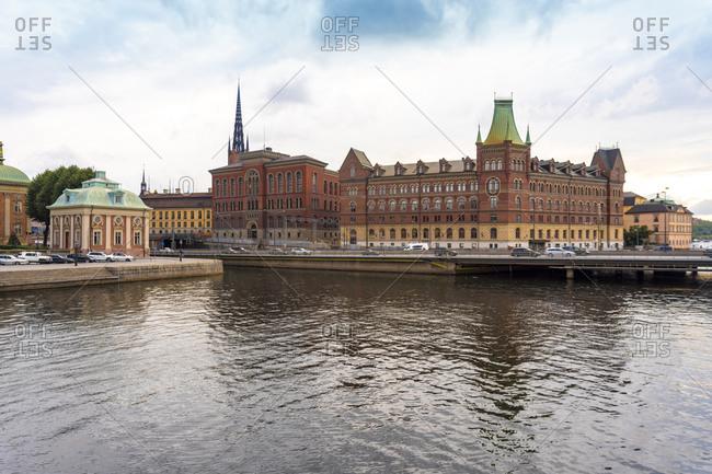 Sweden- Sodermanland- Stockholm- Bridge in front of Riddarholmen islet