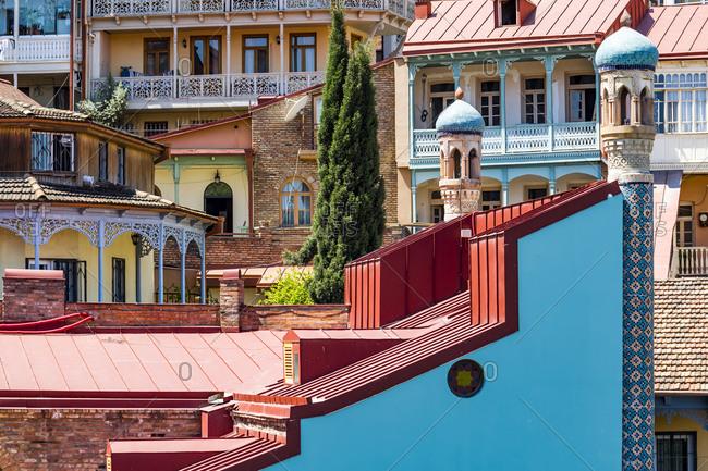 Jumah Mosque against residential buildings- Tbilisi- Georgia