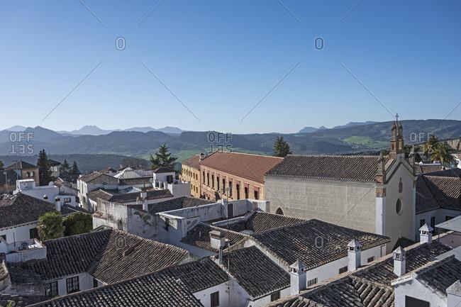 Spain, Ronda, Townscape and Sierra de Grazalema