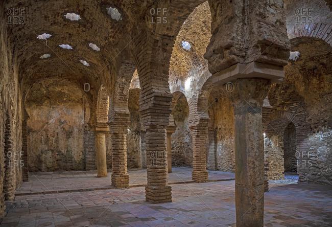 Spain, Ronda, Arab baths from 13th century