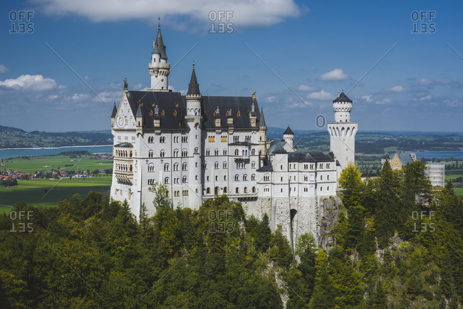Germany, Schwangau, Scenic view of Neuschwanstein castle