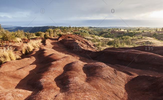 USA, Hawaii, Kauai, Na Pali, Rock formations on Na Pali mountains