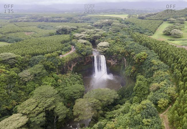 USA, Hawaii, Kauai, Waterfall in forest