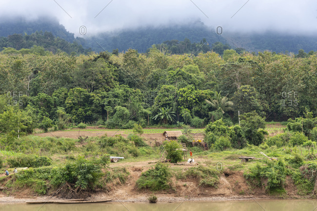 Laos - November 29, 2014: Scenic view of rural Laos