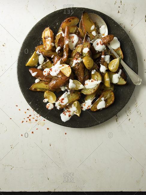 Sweet Potato with Honey, Rosemary and Chilli.