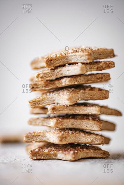 Pie Crust Star Cookies studio shot