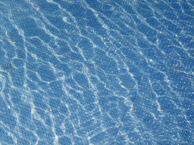 Abstract pattern of water in the pool